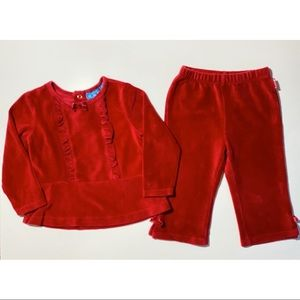 The children's place red Christmas outfit 12 & 24